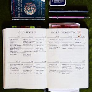 Project Management Bullet Journal