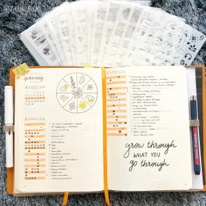Orange Bullet Journal Spreads and Layouts