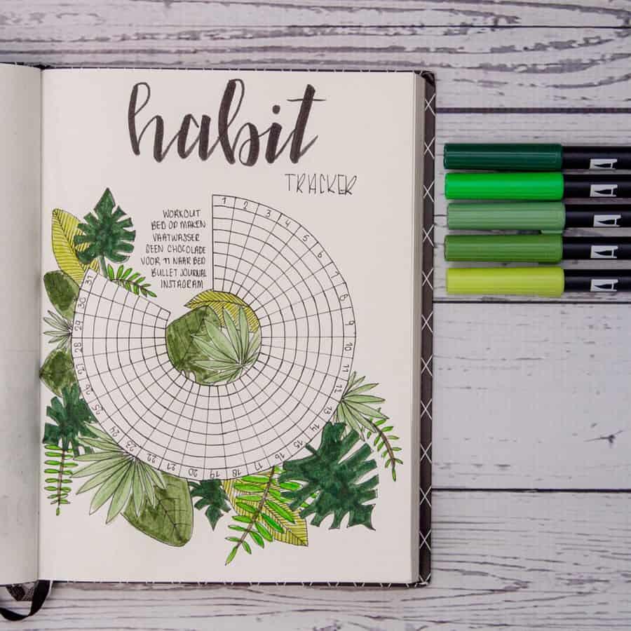 Circle Habit Tracker Bullet Journal