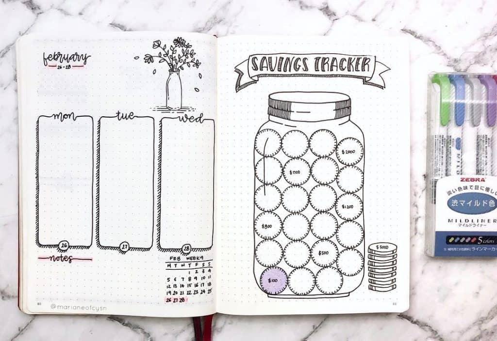 Finance Tracker Budgeting Bullet Journal