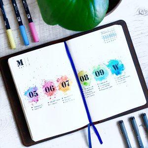 Rainbow Bullet Journal Spread Ideas