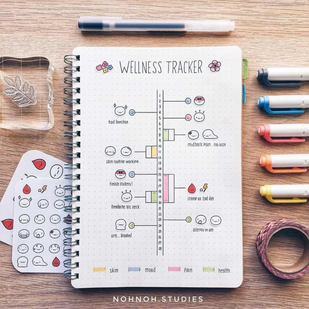 Bullet Journal Habit Tracker Layout Ideas