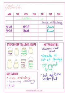 Level 10 life bullet journal spread idea