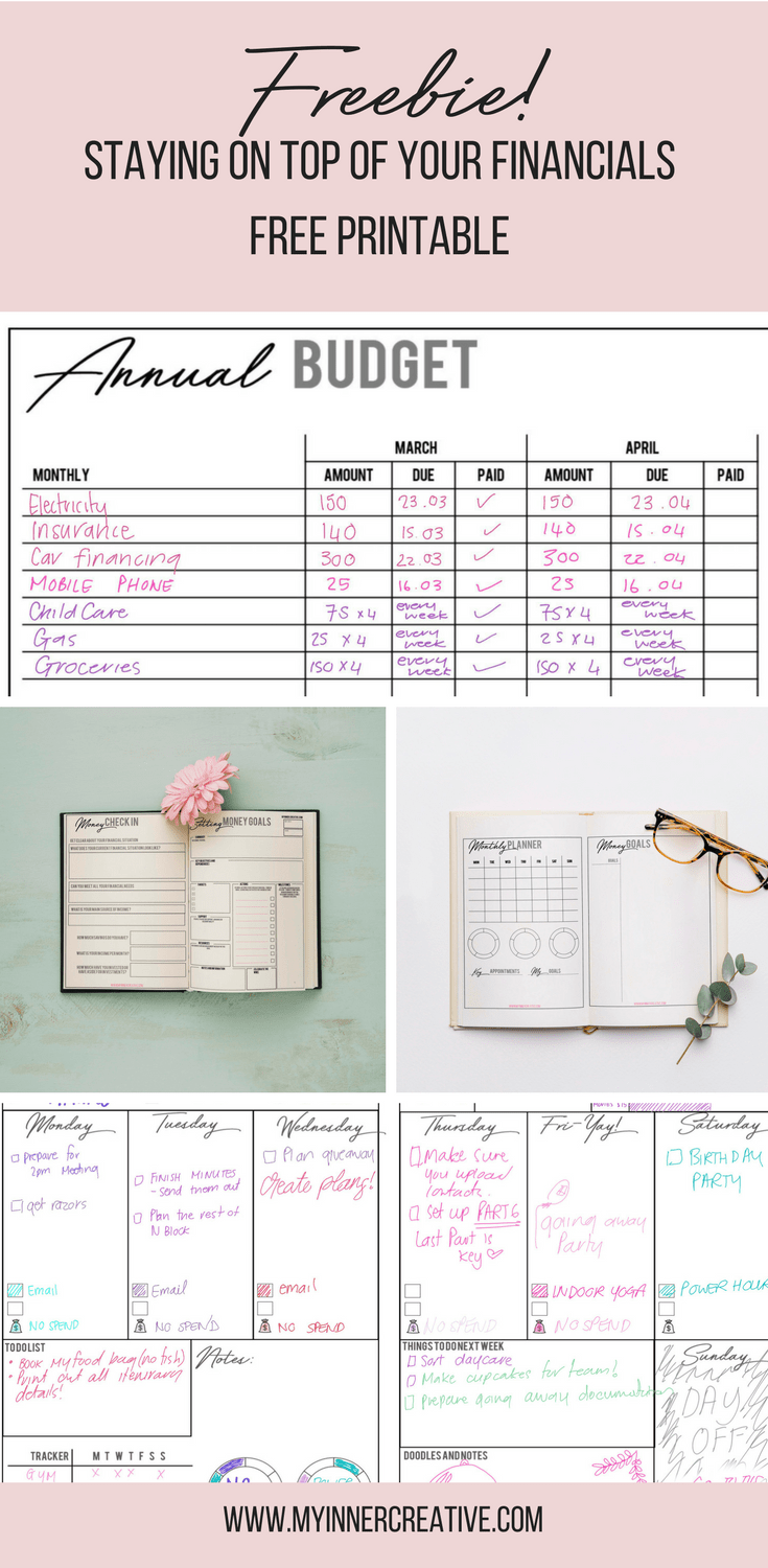 Financial Spread Bullet Journal Budgeting Ideas
