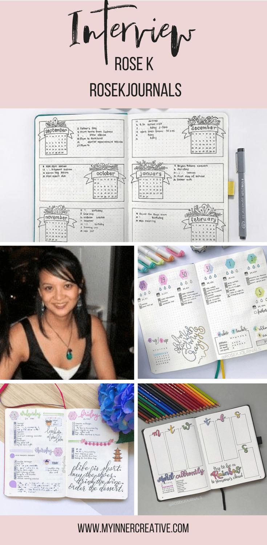 Interview little miss rose bullet journal