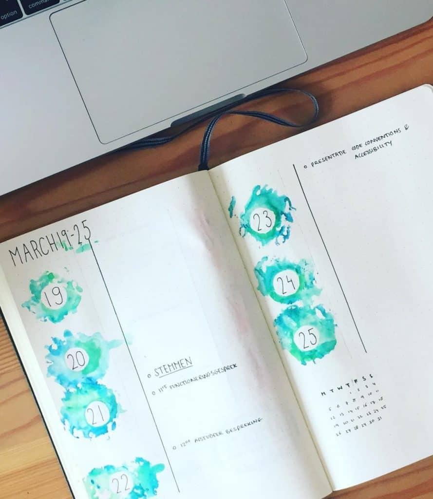 Best Mint Bullet Journal Spreads