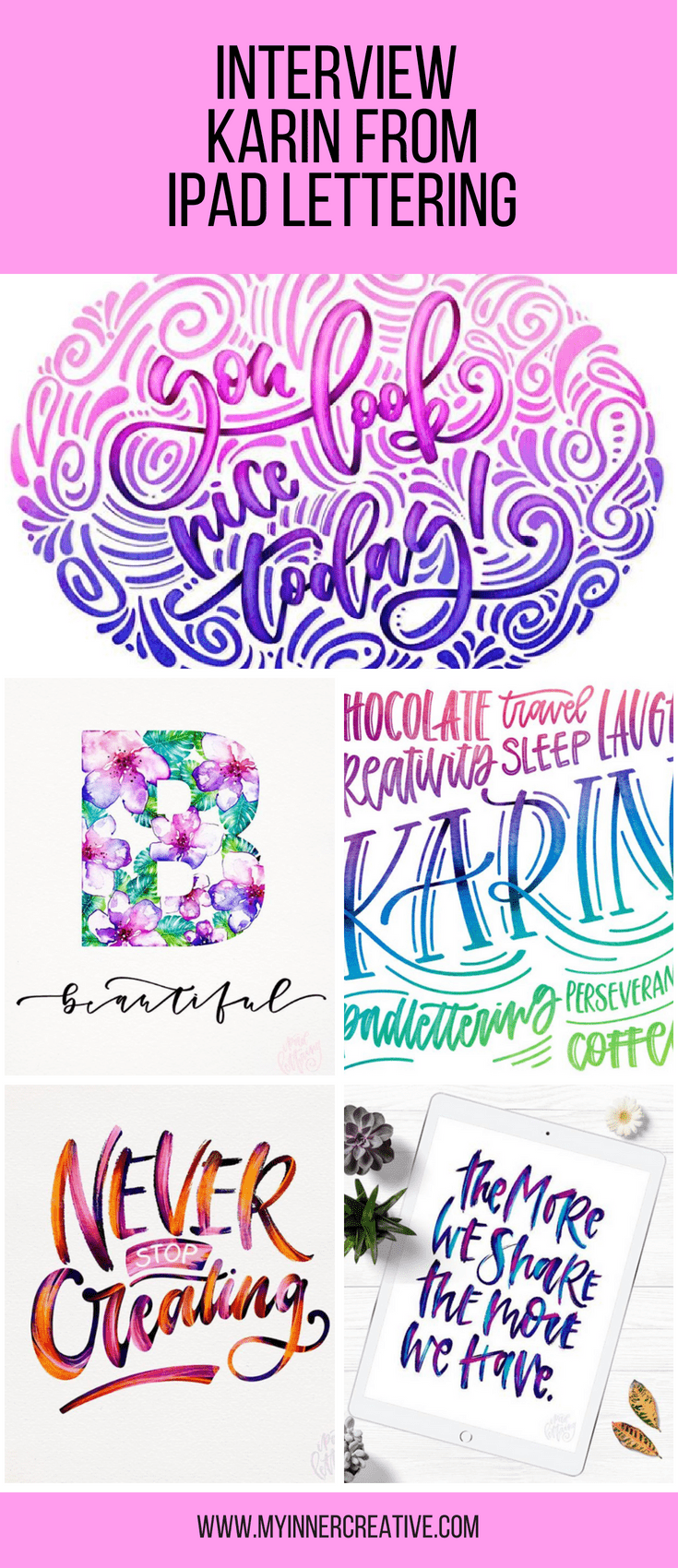 interview with Karin Ipad Lettering