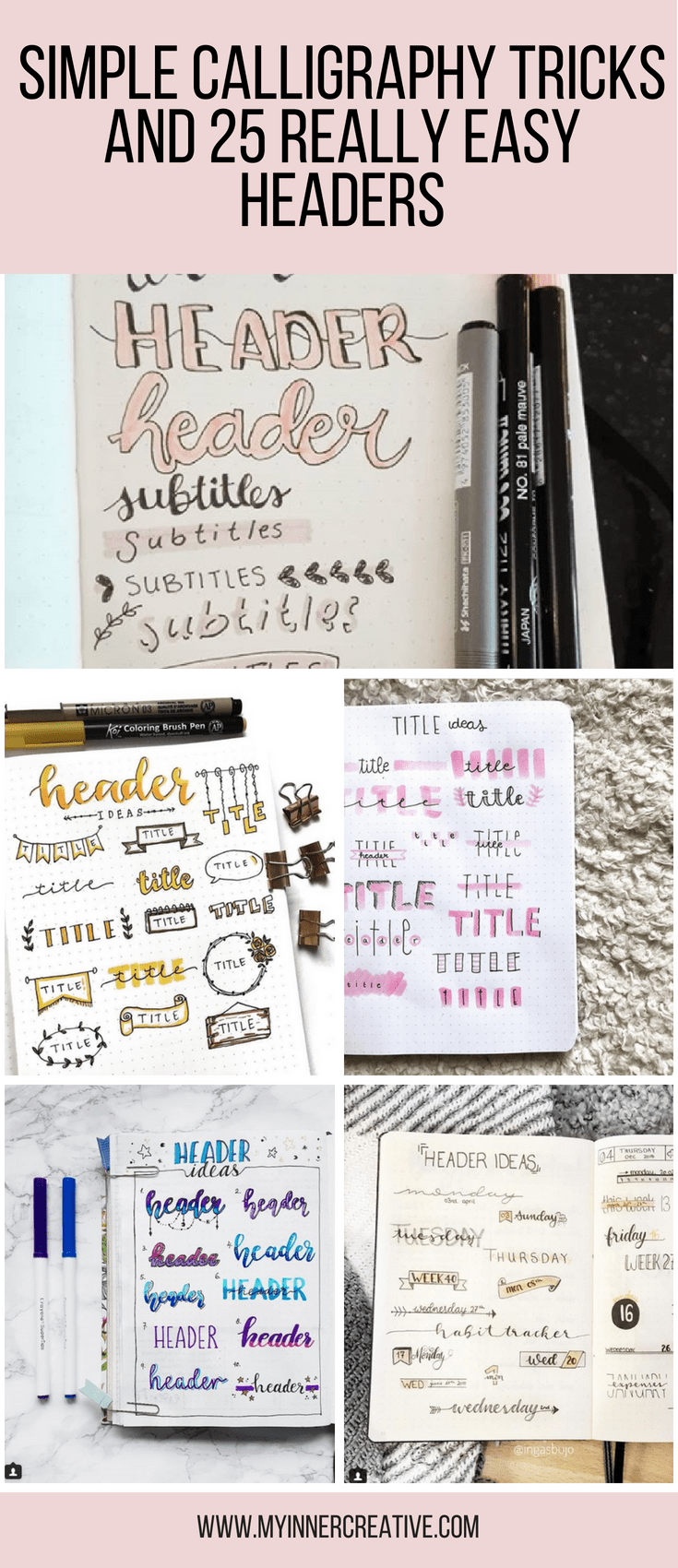 Simple Calligraphy Tricks and Simple headers