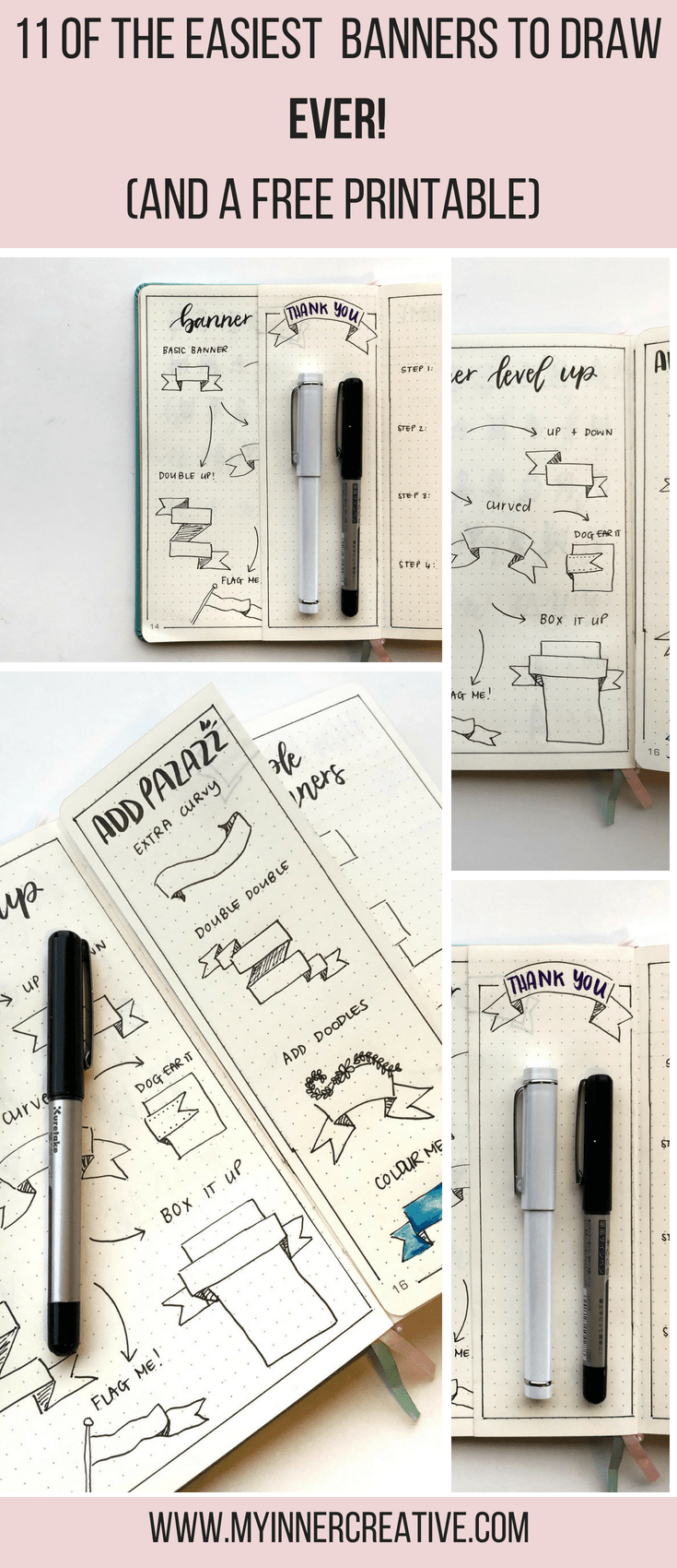 easy draw a bullet journal banner
