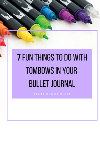 tombows in your bullet journal