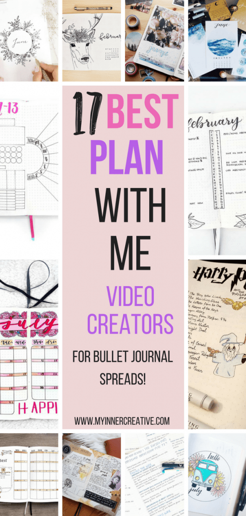 The best plan with me video creators