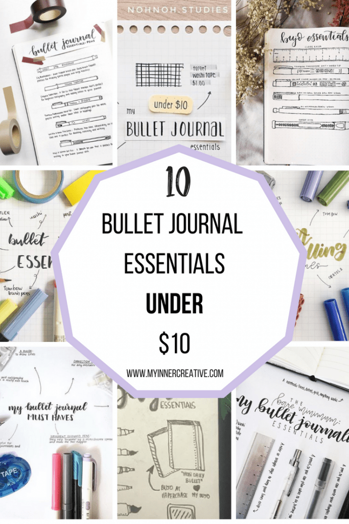 Bullet Journal Essentials List