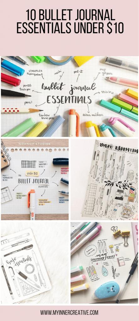 Bullet Journal Essentials List