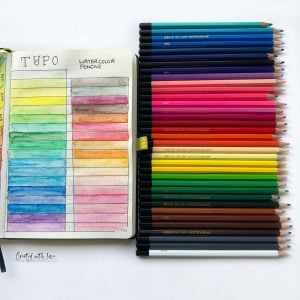 best watercolor pencils bullet journal