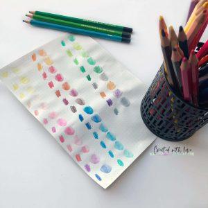 best watercolor pencils bullet journal