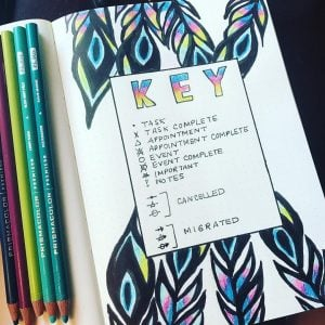 Awesome bullet journal keys ideas