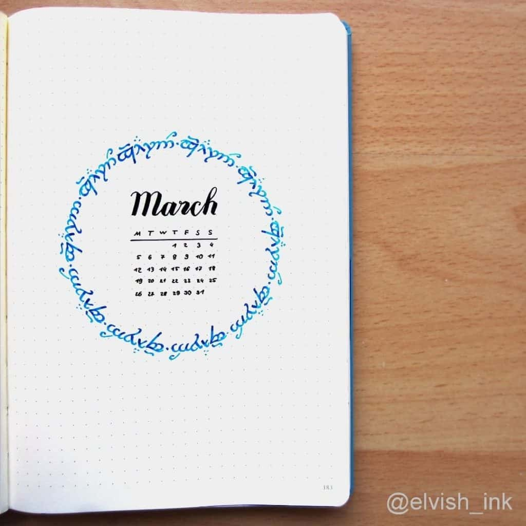 inspiring lord of the rings bullet journal spreads