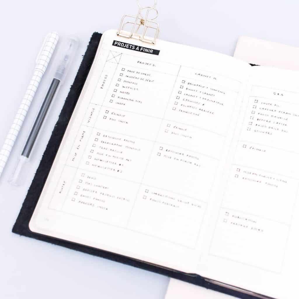 First 90 new job bullet journal