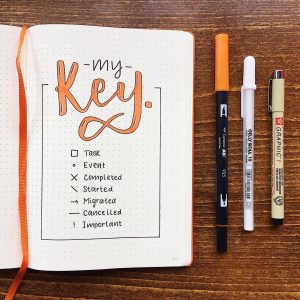 Awesome bullet journal keys