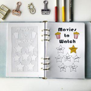 Easy bullet journal spread