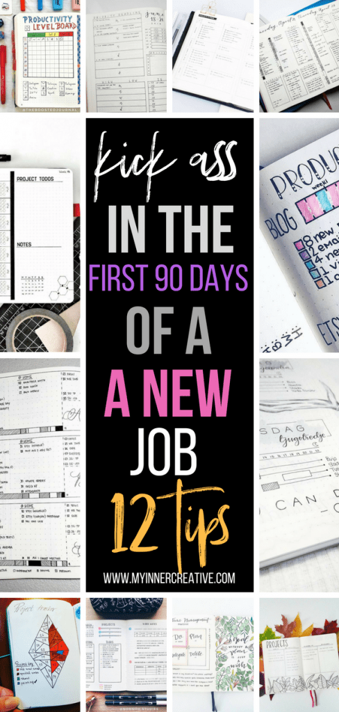 First 90 new job bullet journal