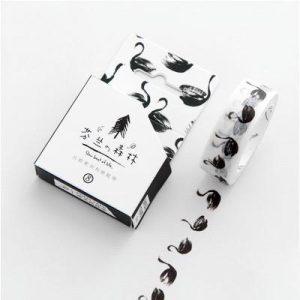 Black bullet journal spreads