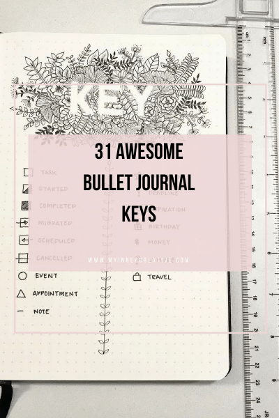 31 Awesome Bullet Journal Keys