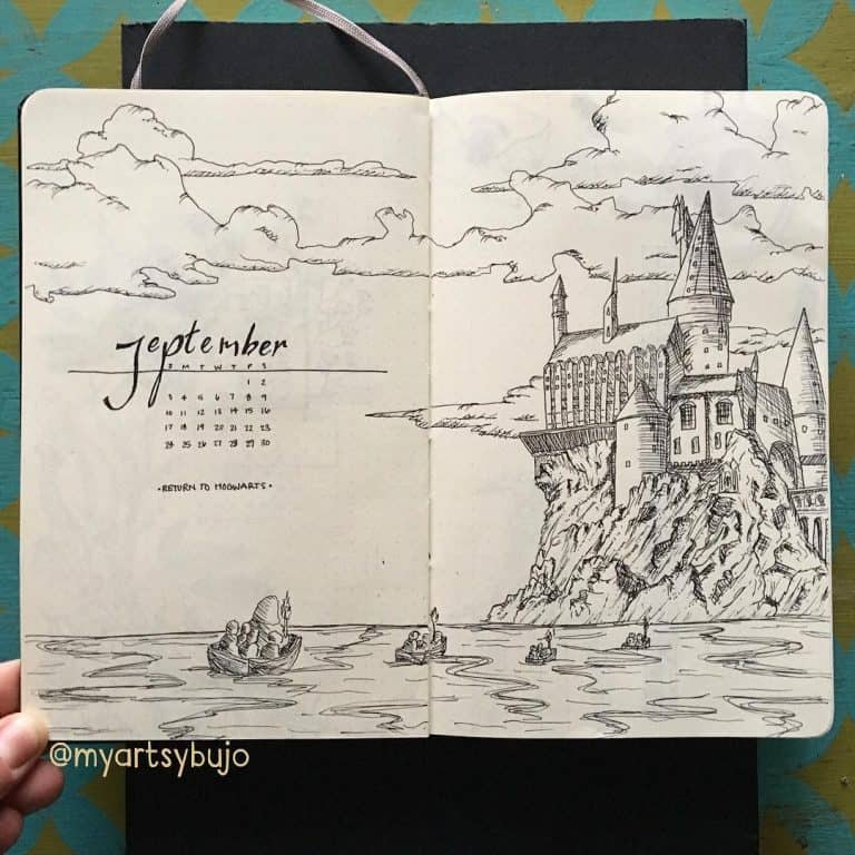 Part 2 80 Magical Harry Potter Bullet Journal Layout Ideas My