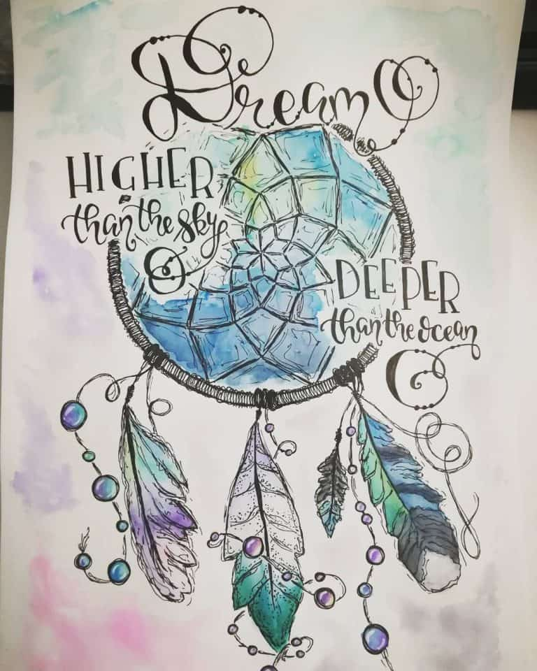 dream catcher bullet journal inspiration