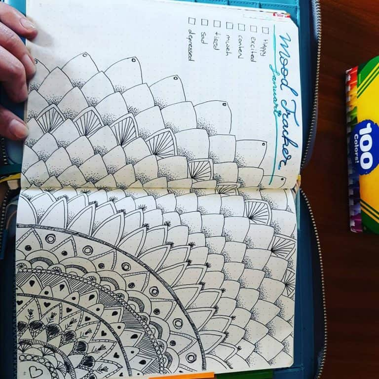 mandala bullet journal layouts