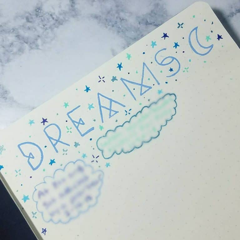 tracking dream in bullet journal
