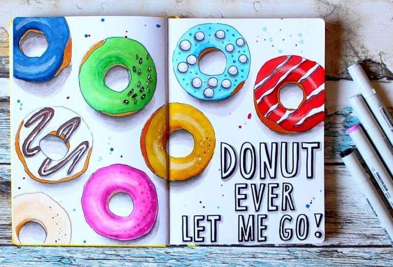 donut bullet journal layout & spread ideas
