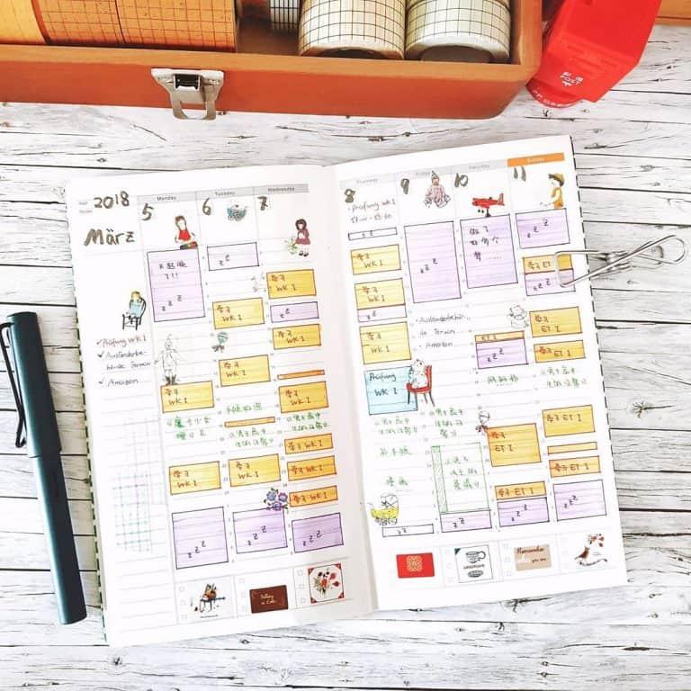 time tracker bullet journal template