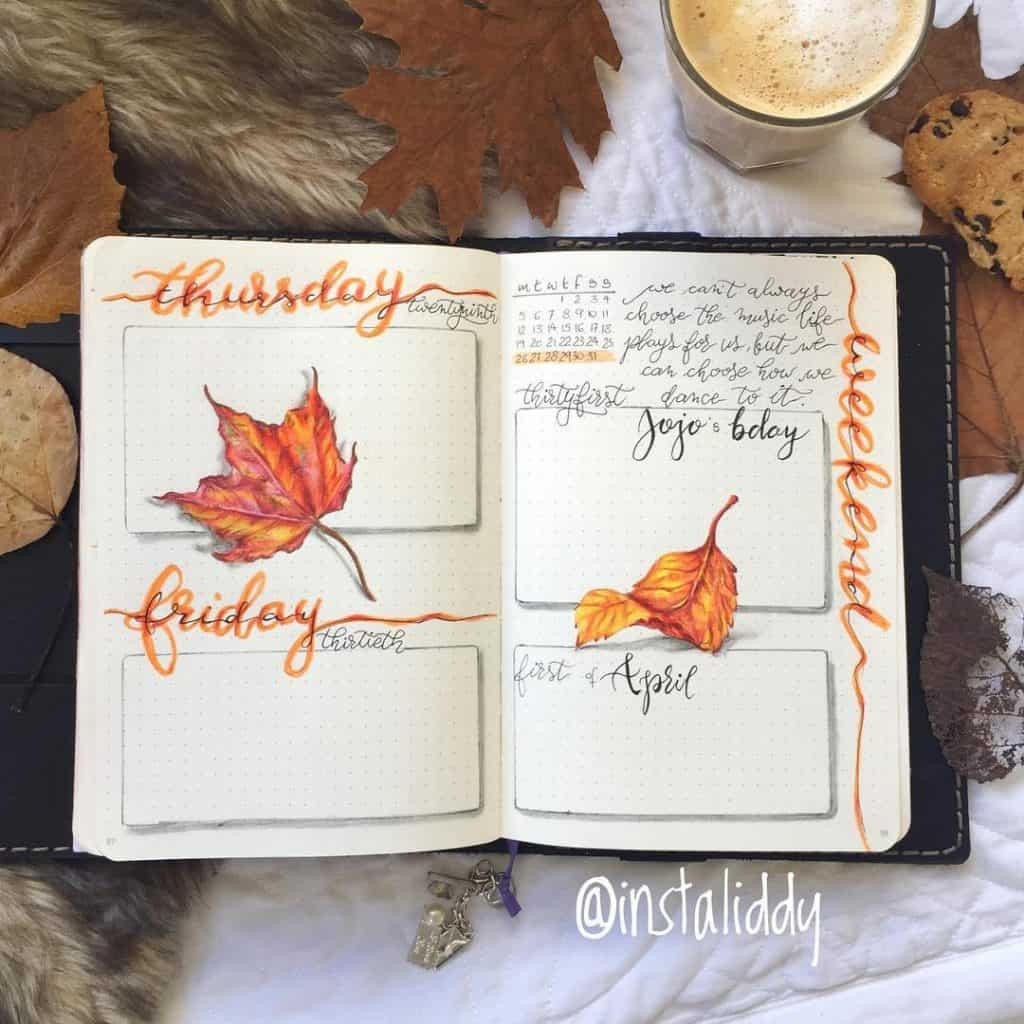 messy style bullet journals