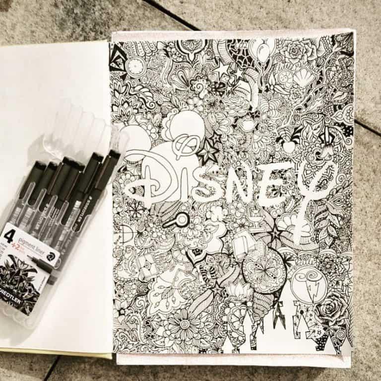 disney inspired bullet journal spreads