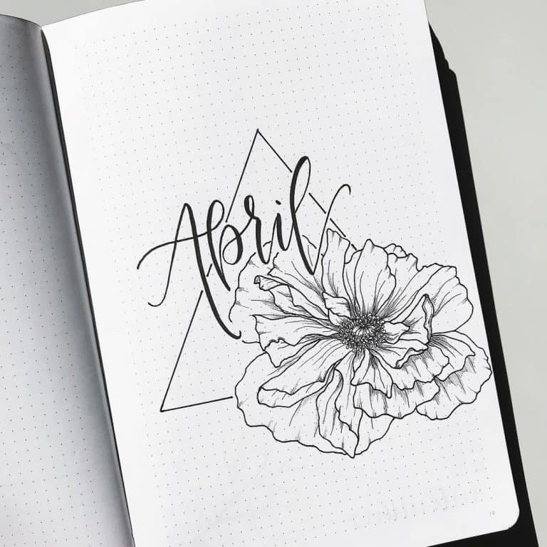 70 Incredibly Pretty Floral Bullet Journal Spreads My Inner Creative