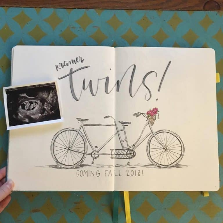 pregnancy tracker bullet journal layout
