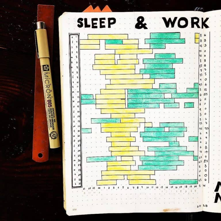 sleep tracker for bullet journal