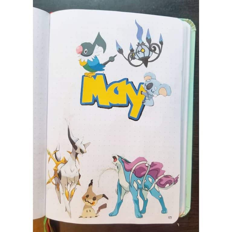 pokemon bullet journal layout