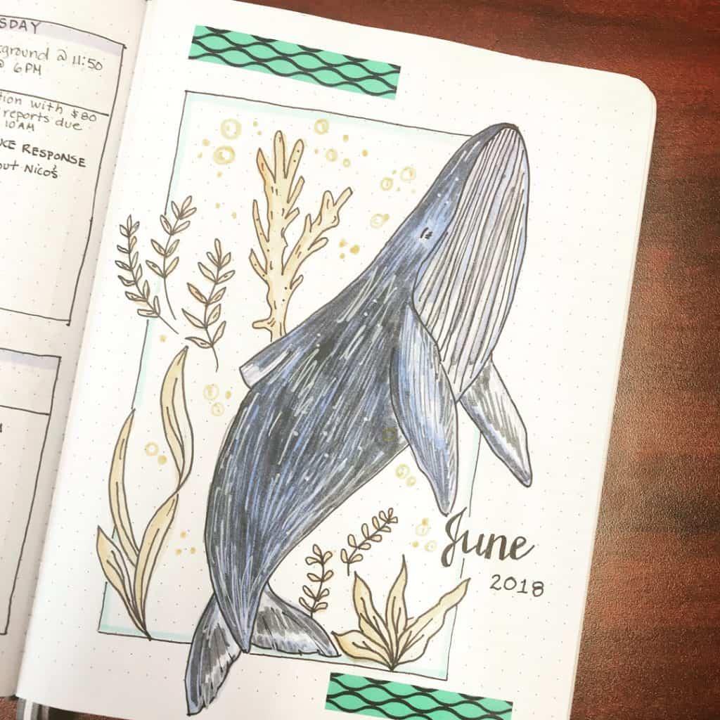 ocean bullet journal layout ideas