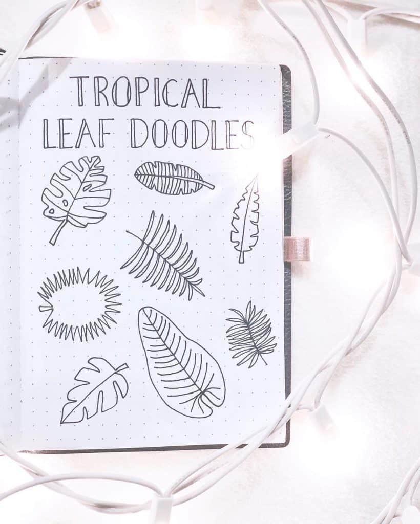 33 Tropical Inspired Bullet Journal Spreads My Inner Creative How cute is this tropical vibes monthly page ? 33 tropical inspired bullet journal