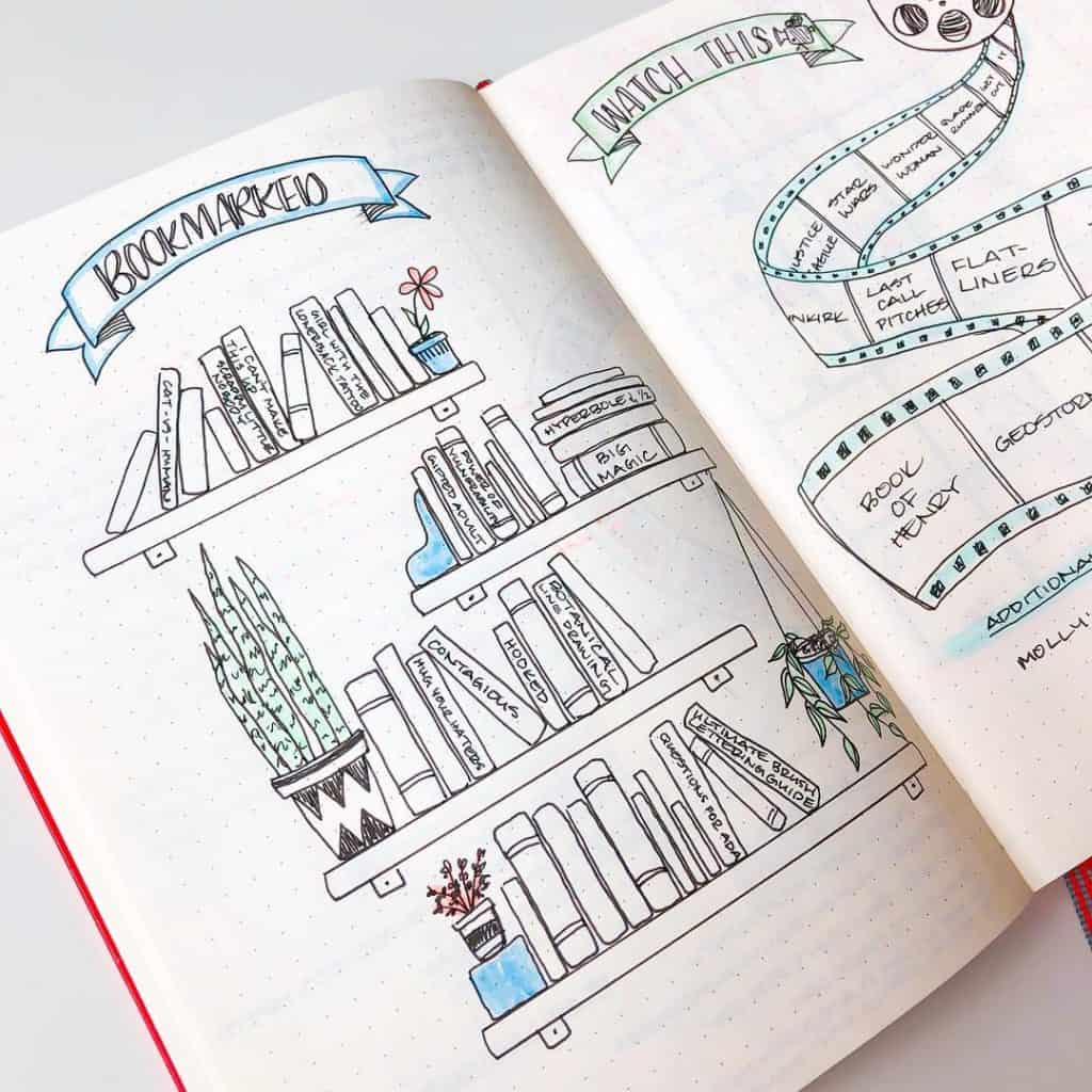 23 Creative Book and Reading trackers for your Bullet