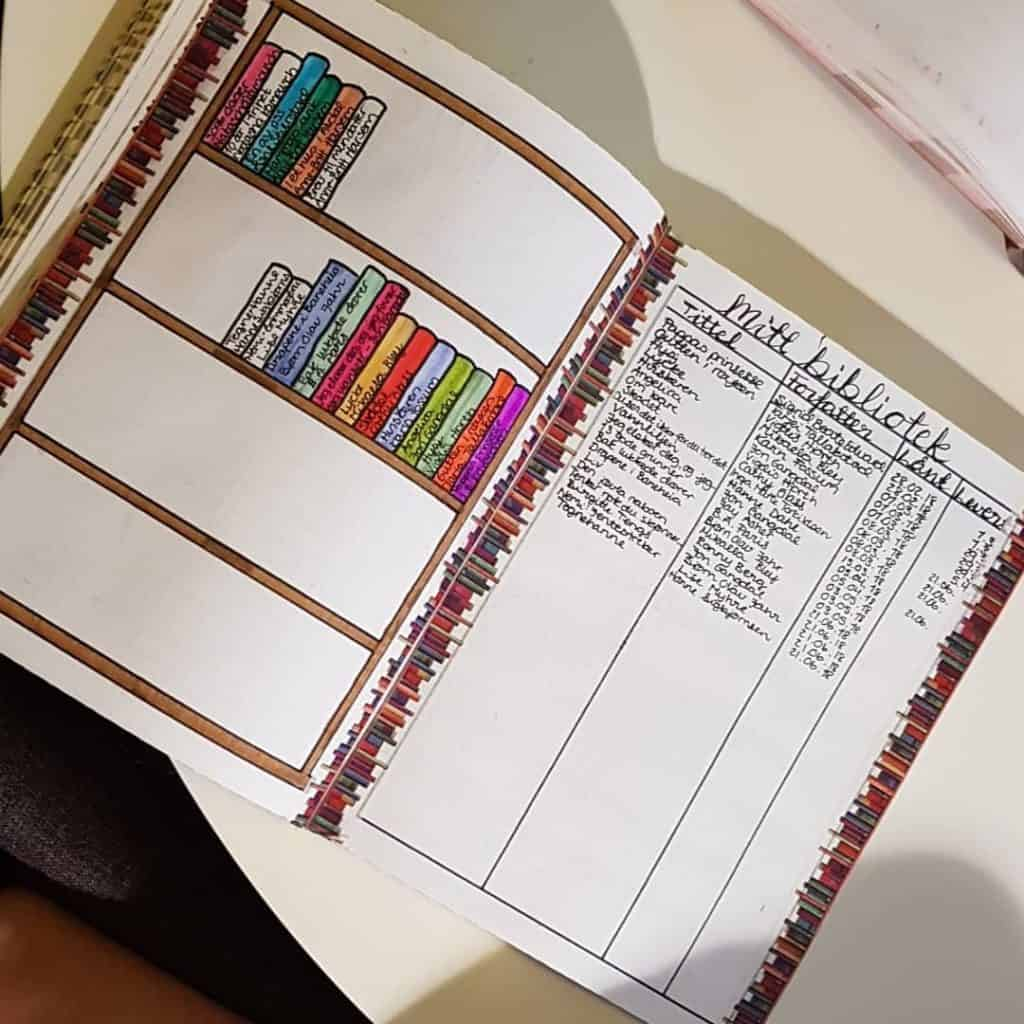 creative book reading trackers bullet journal