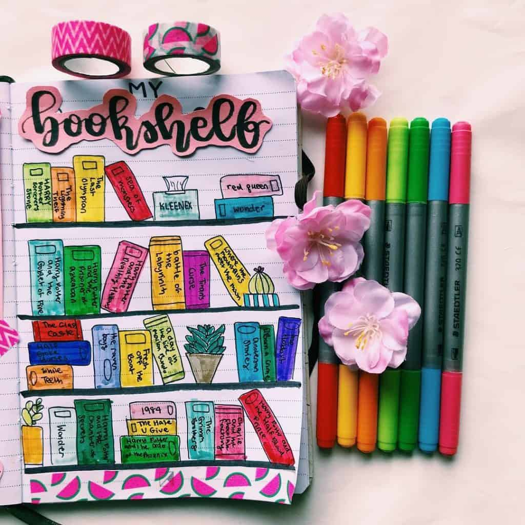@fifistxdiescreative book reading trackers bullet journal