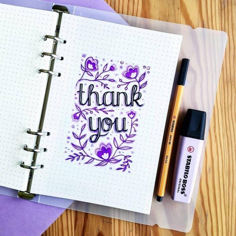 purple bullet journal layout