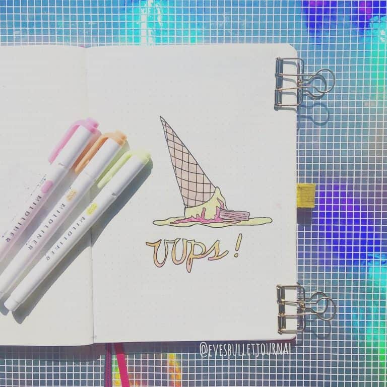 ice-cream bullet journal layout idea