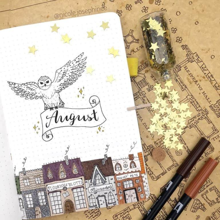 Harry Potter bullet journal layout