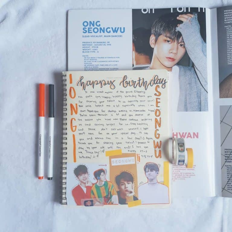 kpop bullet journal idea