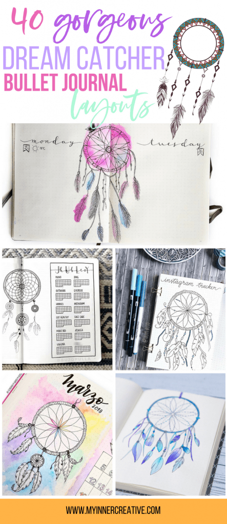 dream catcher bullet journal spreads