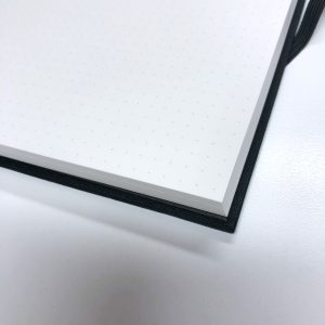 Review Milligram Linen Notebook Dot Grid